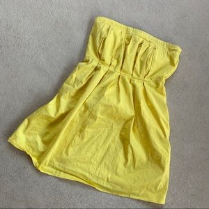 Macy's Buttercup Yellow Strapless Dress